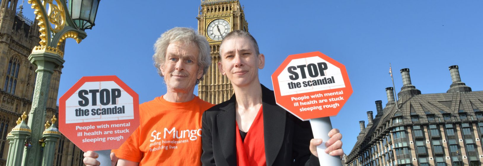 Claire and David, both St Mungo's clients at Westminster