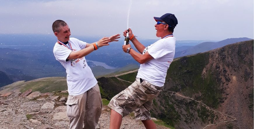 Image: Clients and Staff at St Mungo's climb Mount Snowdon