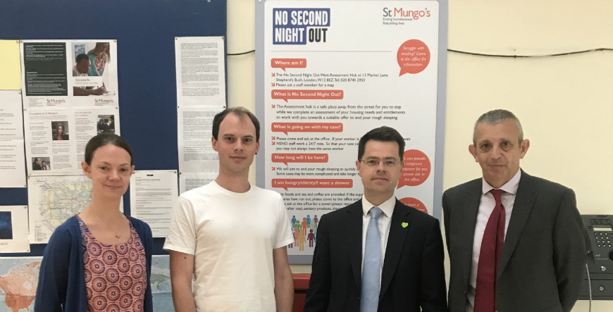 James Brokenshire visits St Mungo's projects in west London