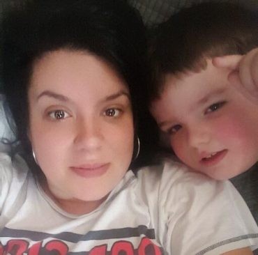 Photo of Kelly and her son