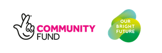 Community Fund and Our Bright Future logos