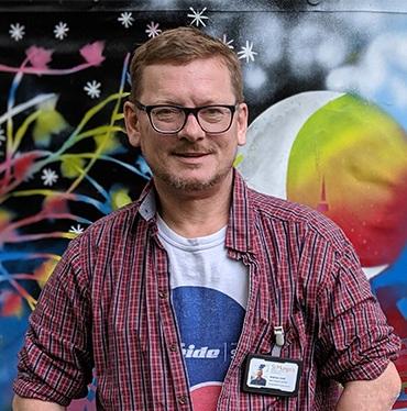 Photo of Andrew Cook, St Mungo's Support Worker in Bristol