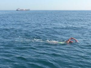 Kathryn Perry Swims English Channel