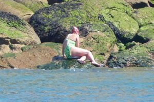 Kathryn Perry completes swim across English Channel